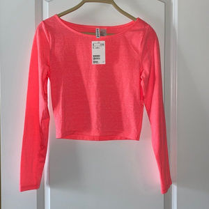 NWT Fluorescent Pink Top